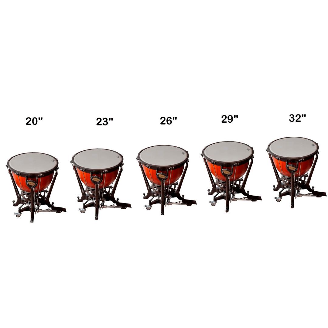 """Quinteto De Tímpanos Ascent Tamanhos 20"""", 23"""", 26"""", 29"""" e 32"""""""