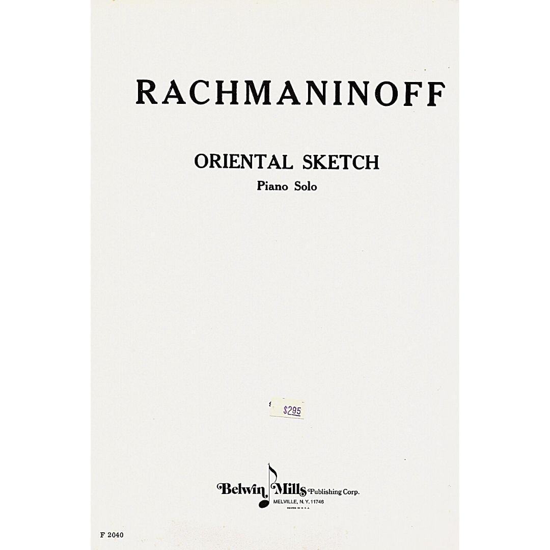 Rachmaninoff Oriental Sketch Piano Solo F2040