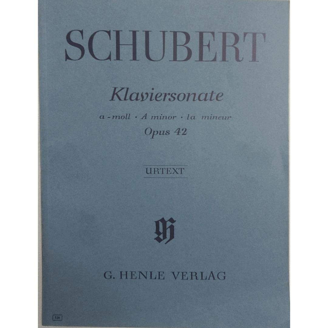 SCHUBERT Klaviersonate a -moll . A minor . la mineur Opus 42 - Urtext - G. Henle Verlag - 156