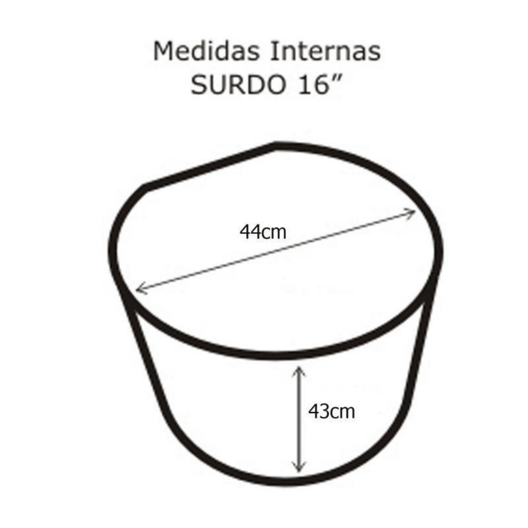 Semi Case para Surdo 16'' Solid Sound