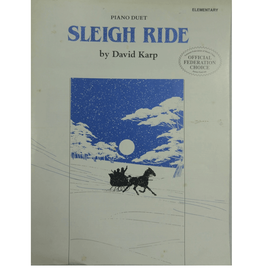 Sleigh Ride by David Karp Piano Duet - Elementary PA02335