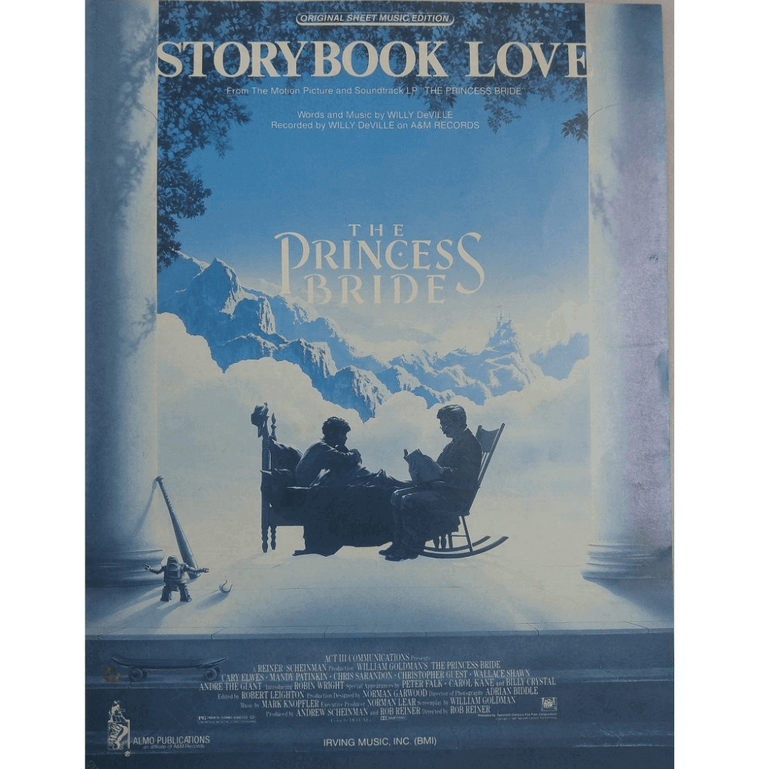 "Story book Love - From The Motion Picture and Soundtrack LP "" The Princess Bride"" 1058SSMX"