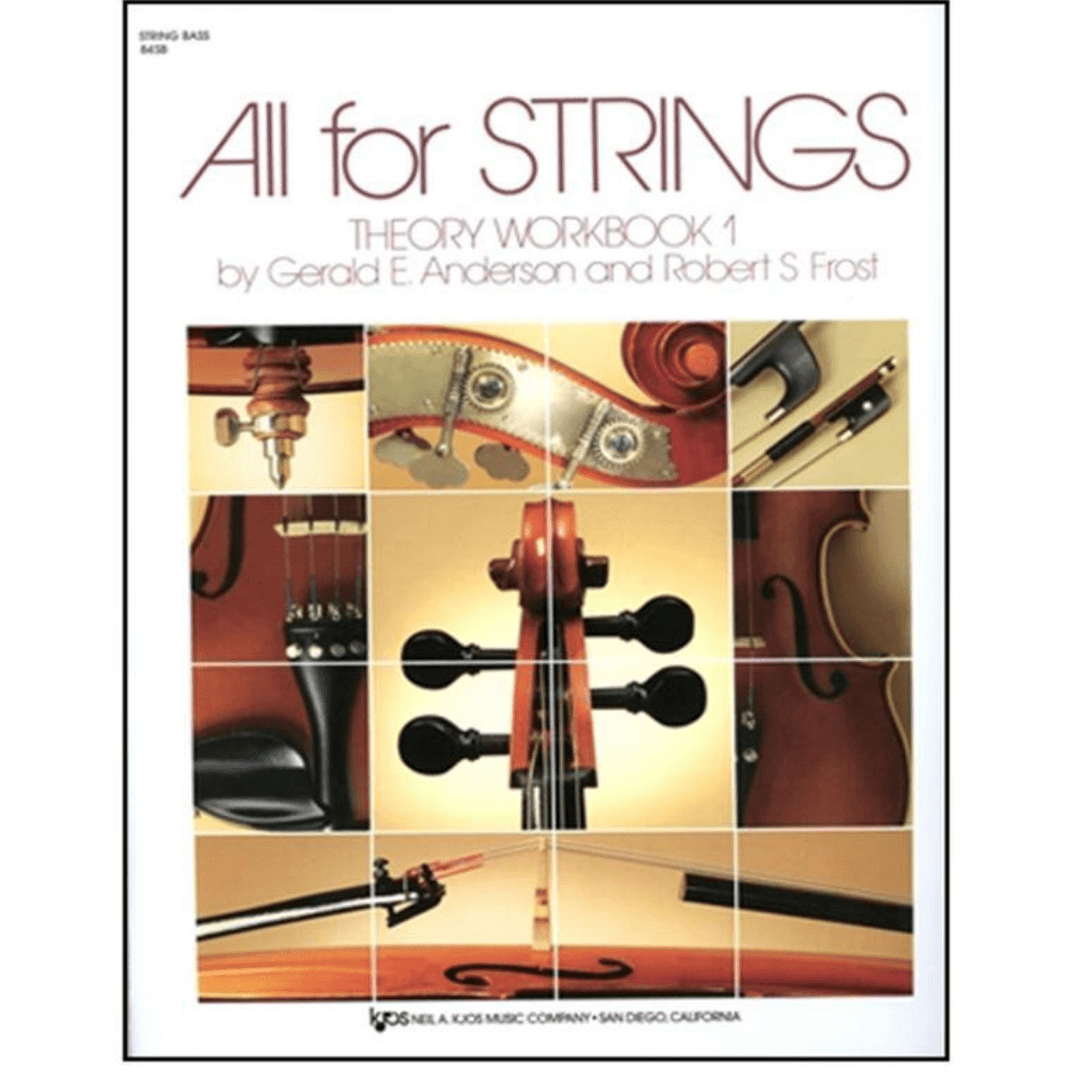 STRING BASS All for Strings Theory Workbook 1 by Gerald E. Anderson and Robert S Frost. - 84SB