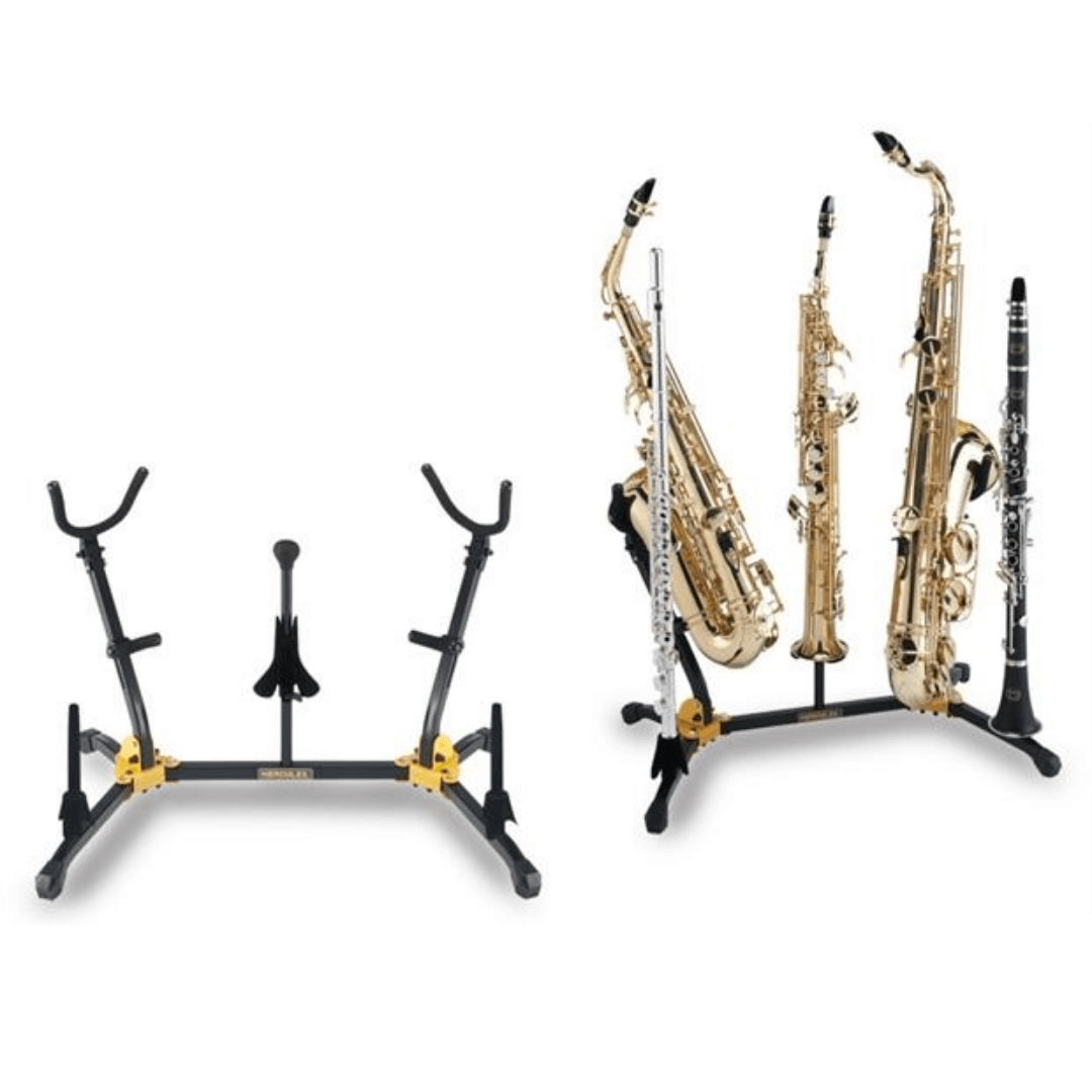 Suporte Combinado Hercules DS538B Sax Alto, Tenor, Soprano, Flauta e Clarinete 8276