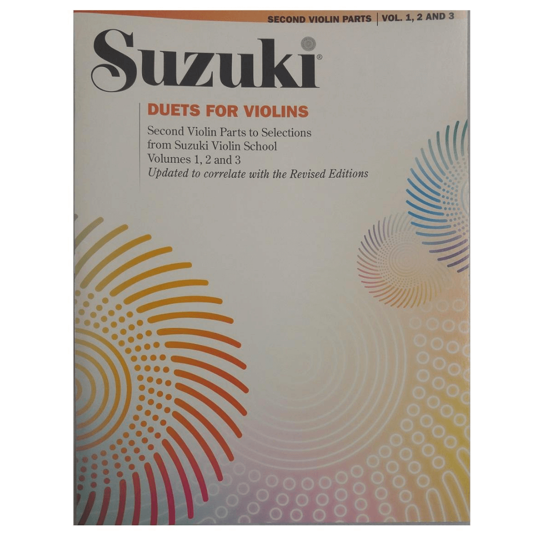 Suzuki Duets for Violins - Second Violin Parts - Vol. 1, 2 and 3 - 0093S