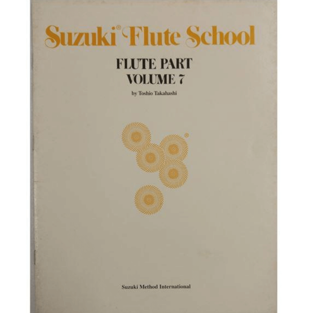 Suzuki Flute School Flute Part Volume 7 - Método para Flauta - 3835