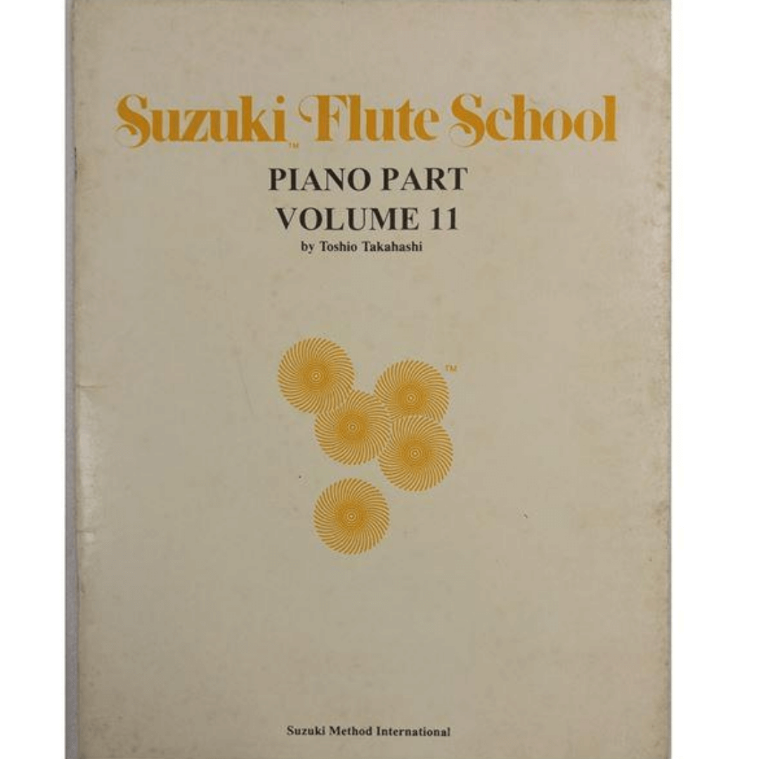 Suzuki Flute School Piano Part Volume 11 - Método para Flauta - 6982USA