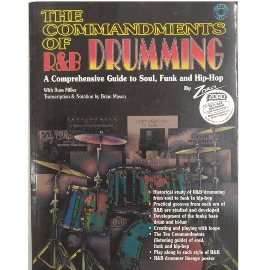 The commandments of R&B drumming: a comprehensive guide to soul, funk and hip-Hop - 0110B