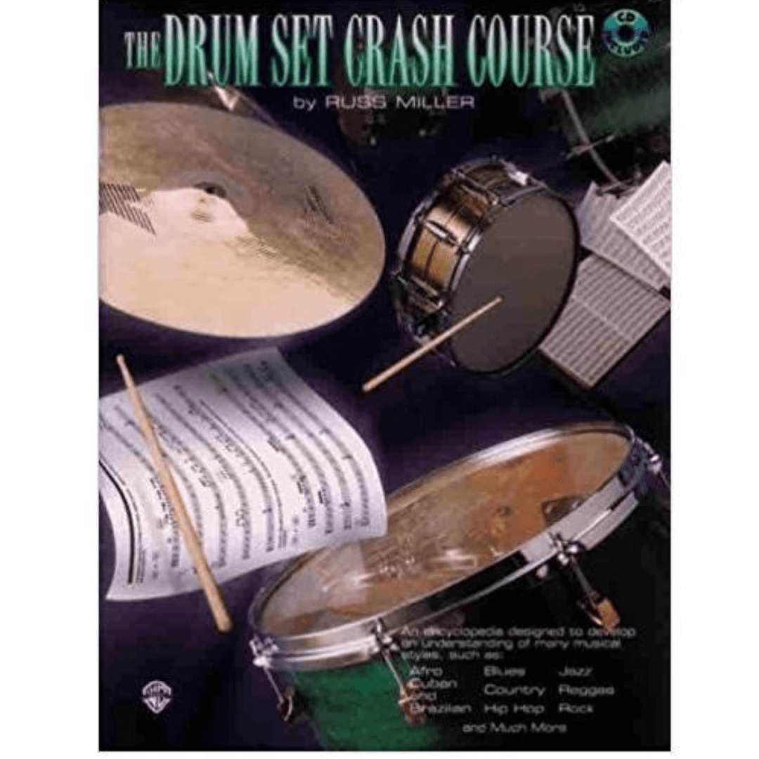The Drum Set Crash Course by Russ Miller ( Com CD ) PERC9611CD