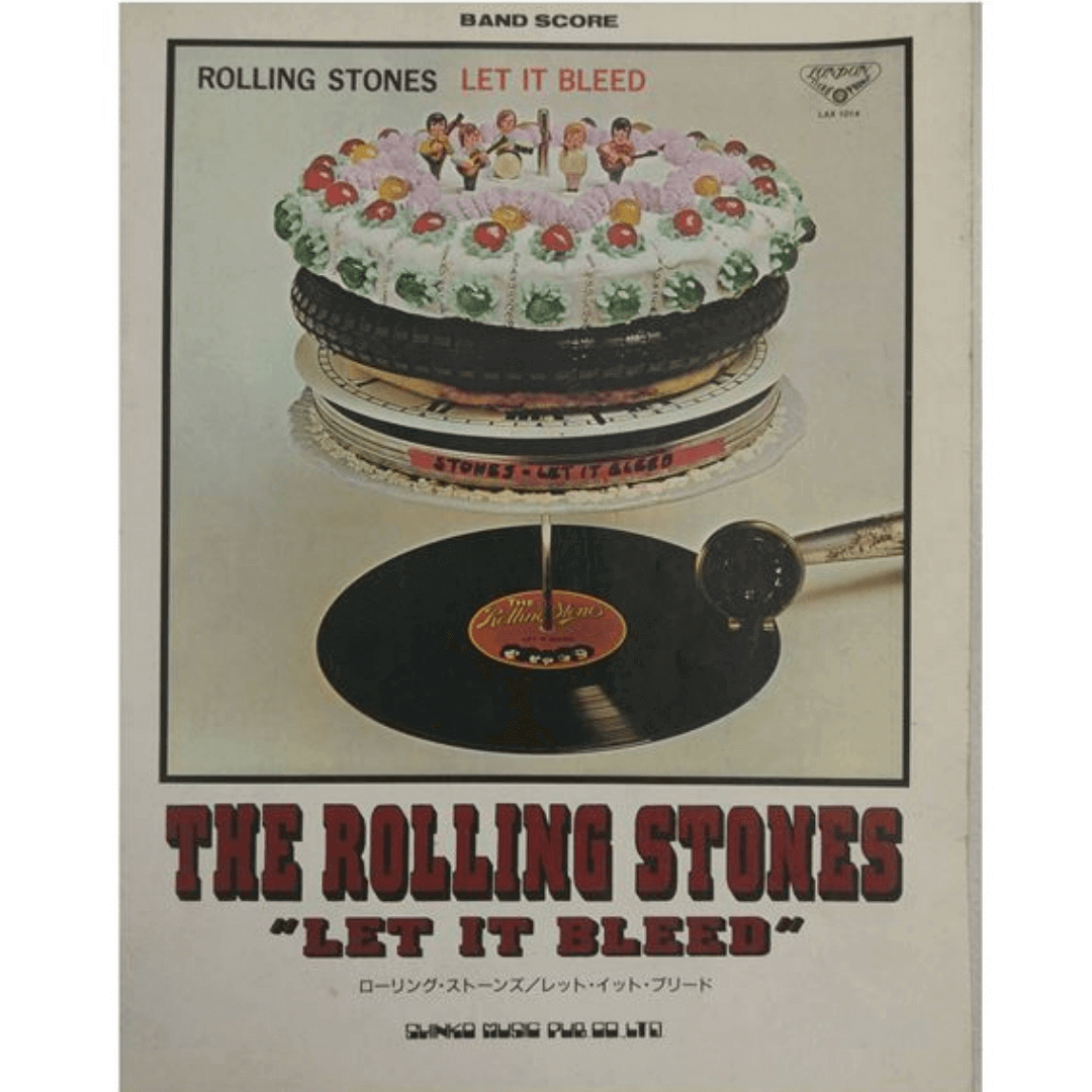 The Rolling Stones Let It Bleed Japan Band Score Guia De Guitarra - P2060E