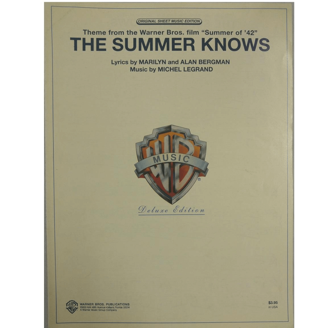 "Theme From The Warner Bros. Film "" Summer of ' 42"" - The Summer Knows - VS0386"