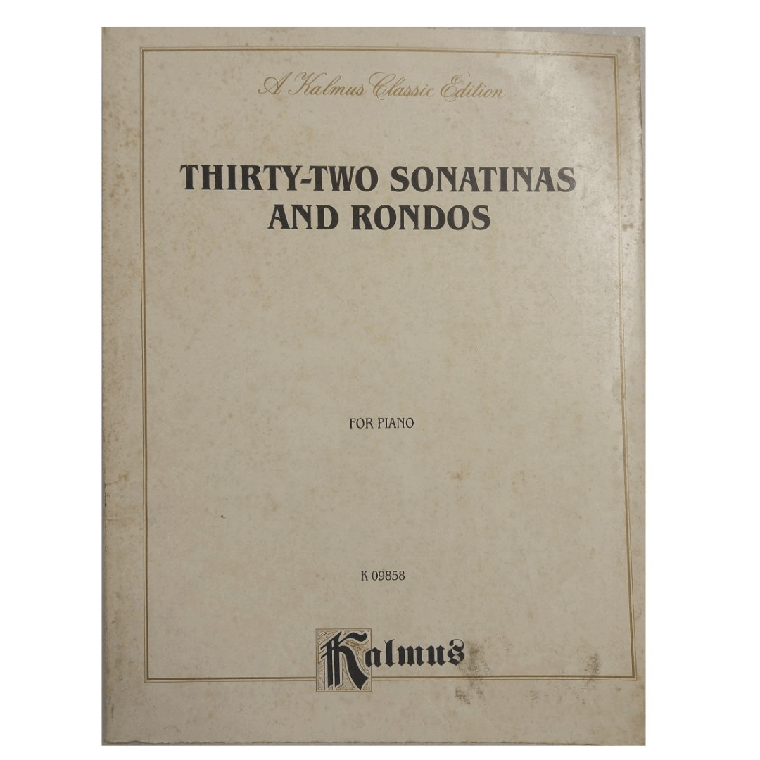 Thirty-Two Sonatinas and Rondos for Piano K 09858 Kalmus
