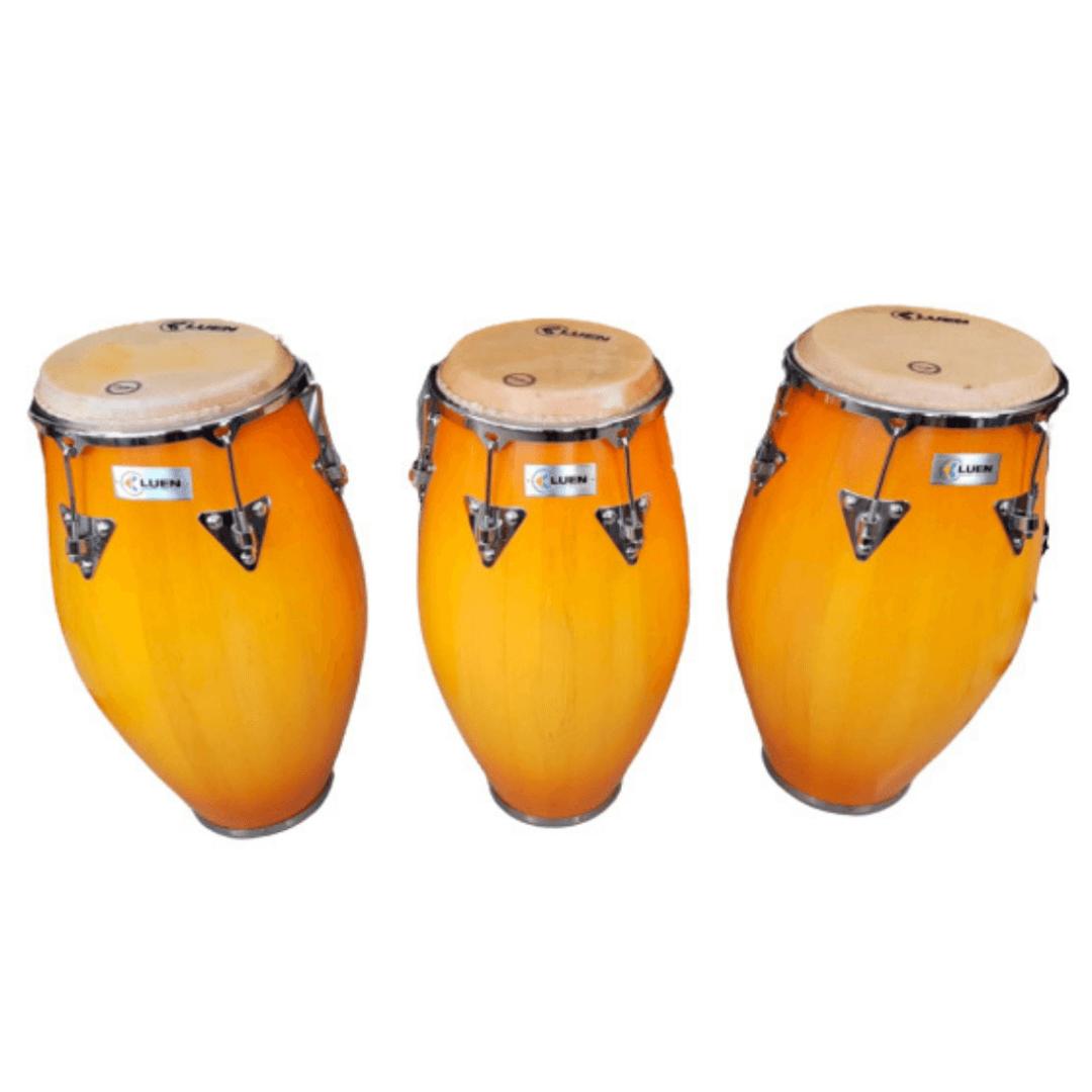 Trio de Conga Tumbadora Serie Tribo 10 1/2, 11 1/2 e 12 1/2  Luen 49130HB - SEM SUPORTE