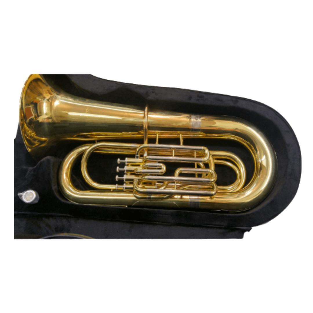 Tuba Sinfônica Bb 4/4 - 4 Pistos Ascent ASBB534L Laqueada