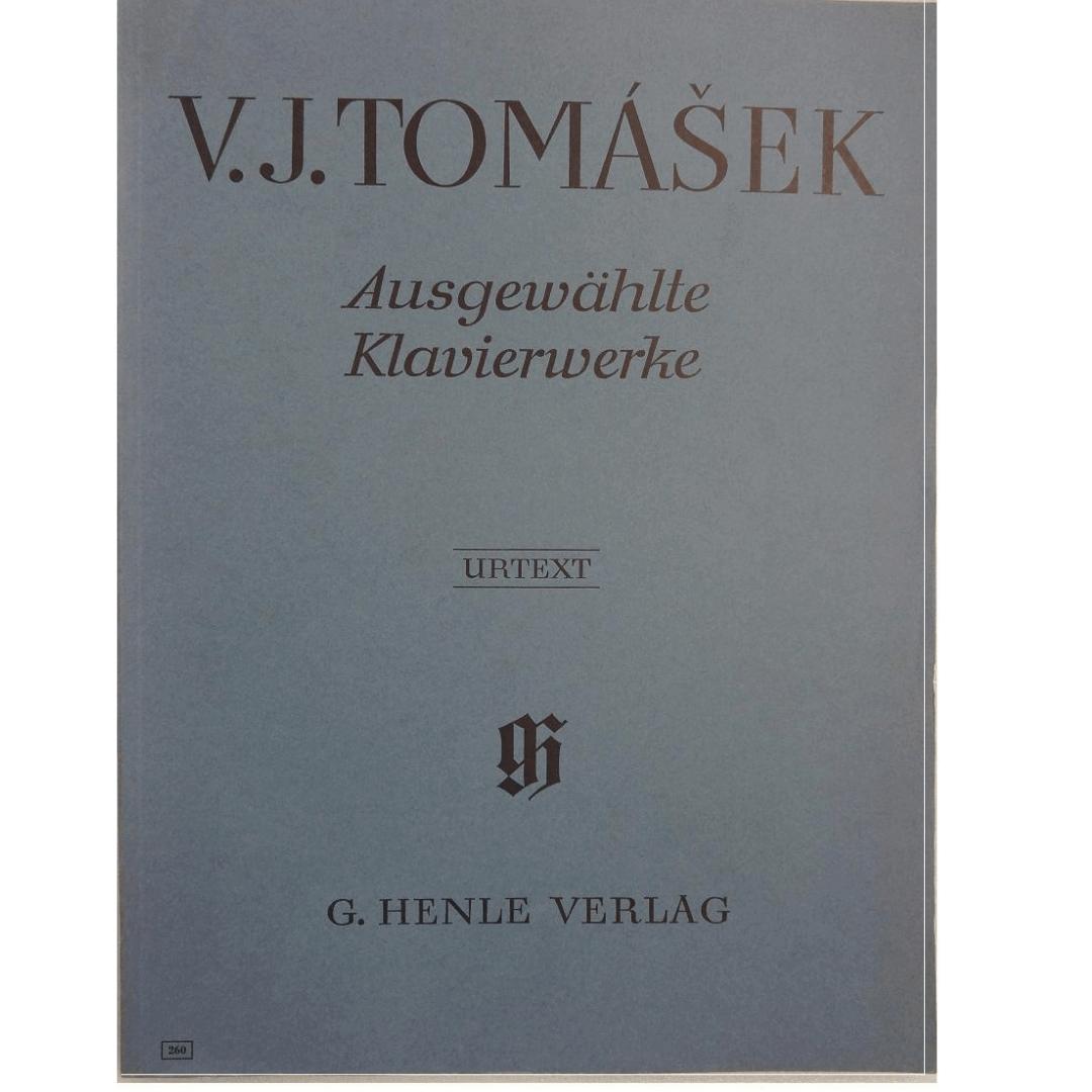 V.J. TOMASEK Ausgewahlte Klavierwerke -Urtext - G. Henle Verlag - 260
