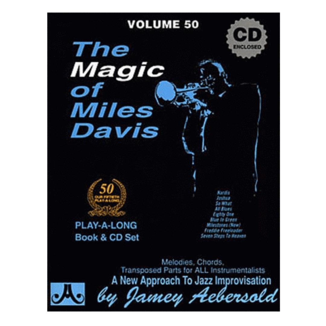 Volume 50 The Magic Of Miles Davis, Jamey Aebersold, Qualquer C,Eb,Bb,instru. baixo/voz C/CD V50DS