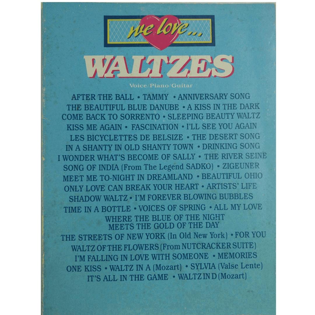We Love Waltzes Voice, Piano e Guitar VF1516