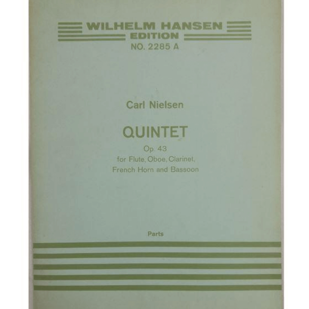 Wilhelm Hansen Edition No. 2285A Carl Nielsen QUINTET Op. 43 para flauta, oboé, clarinete, trompa Fr