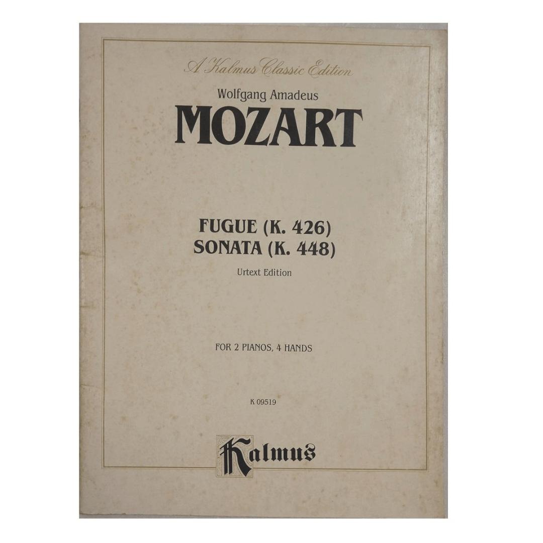 Wolfgang Amadeus Mozart Fugue ( k426) Sonata (k448) for 2 Pianos, 4 Hands K 09519 Kalmus