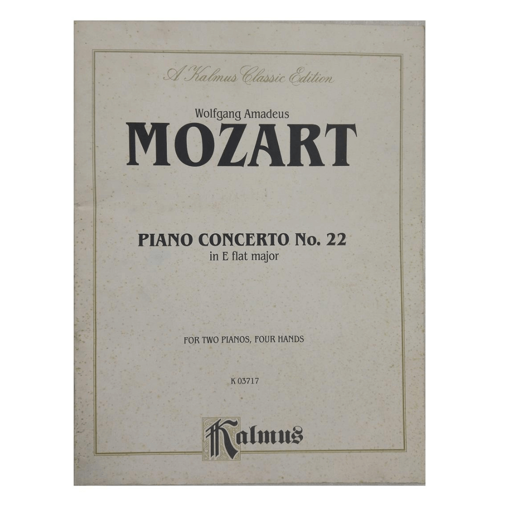 Wolfgang Amadeus Mozart Piano Concerto No. 22 In E Flat major for Two Pianos, four Hands K 03717