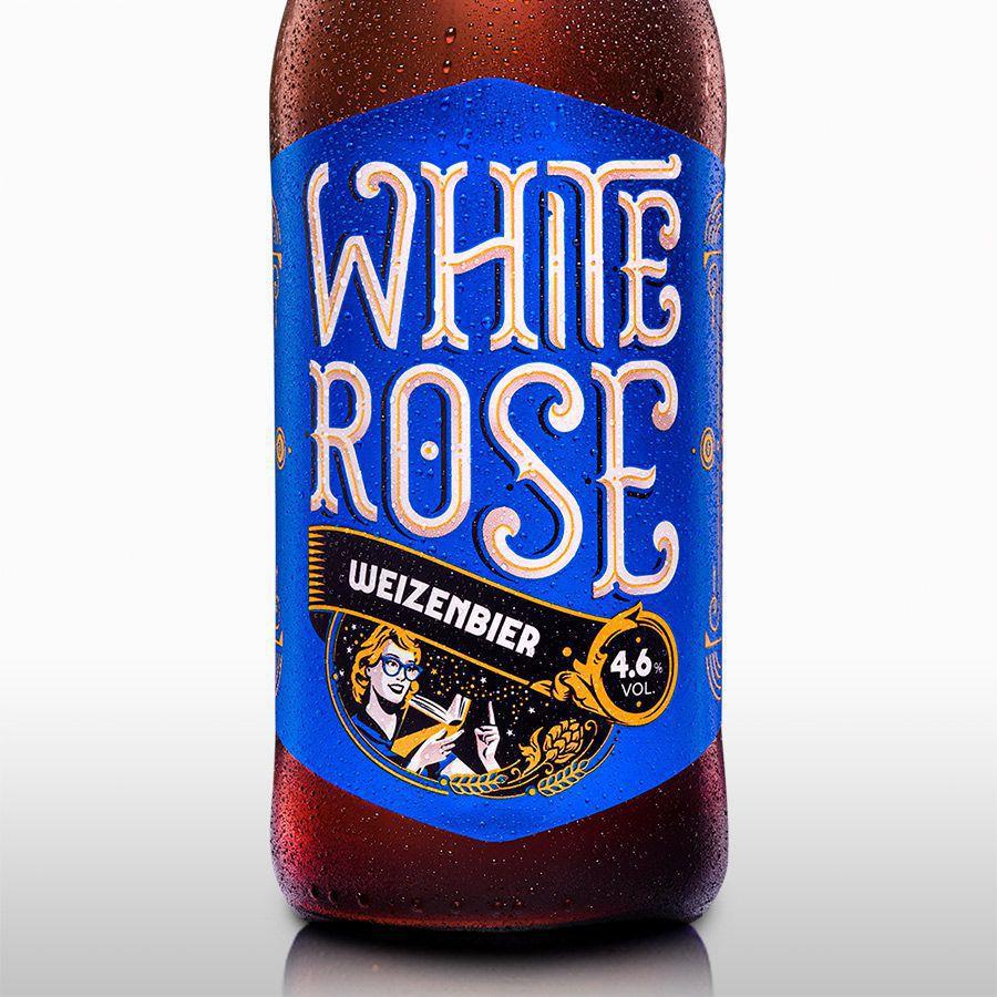 12x White Rose