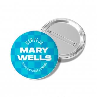 Botton Mary Wells Azul