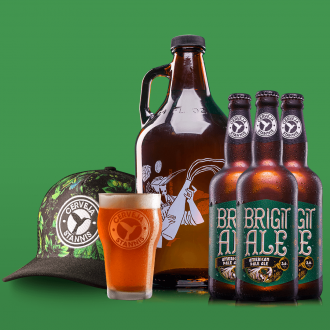 Kit Presente - Growler + Boné + Pint + 3 Brigit Ale