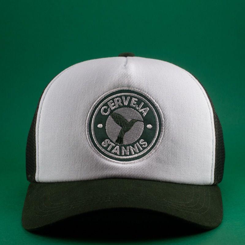 Boné Trucker Verde e Branco Cerveja Stannis