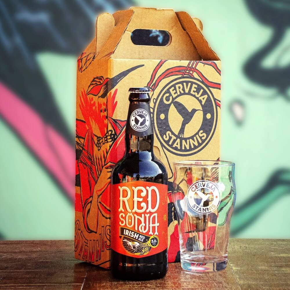 Kit Presente — Red Sönja + Copo Pint