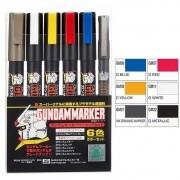 Gundam Marker GMS105 Basic CANETA MARKER 6 unidades