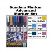 Gundam Marker GMS124 Advance Marker CANETA MARKER 6 unidades
