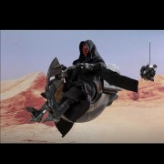 HOT TOYS STAR WARS DARTH MAUL WITH SITH SPEEDER DX17 1/6