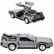 NECA Delorean Back To The Future Die Cast Time Machine