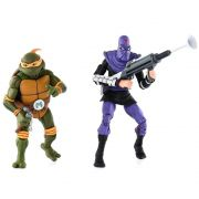 Neca TMNT Michelangelo Vs. Foot Soldier 2 Pack Action Figure