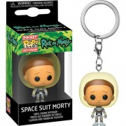 POCKET POP KEYCHAIN CHAVEIRO FUNKO MORTY SPACE SUIT RICK