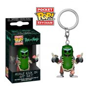 POCKET POP KEYCHAIN CHAVEIRO FUNKO PICKLE RICK in rat suit