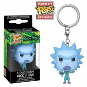 POCKET POP KEYCHAIN CHAVEIRO FUNKO RICK HOLOGRAM RICK E MORTY