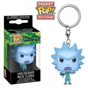 POCKET POP KEYCHAIN CHAVEIRO FUNKO RICK HOLOGRAM RICK MORTY