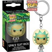 POCKET POP KEYCHAIN CHAVEIRO FUNKO RICK SPACE SUIT RICK AND