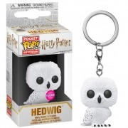 POCKET POP KEYCHAIN CHAVEIRO HEDWIG HARRY POTTER FLOCKED