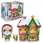 POP FUNKO 01 SANTA CLAUS E NUTMEG WITH HOUSE PAPPERMINT LANE