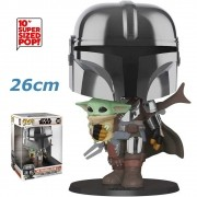 POP FUNKO 380 THE MANDALORIAN WITH THE CHILD 26 CM