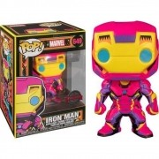 POP FUNKO 649 IRON MAN BLACK LIGHT MARVEL