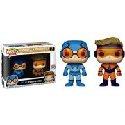 POP FUNKO BLUE BEELE AND BOOSTER GOLD DC SUPER HEROES