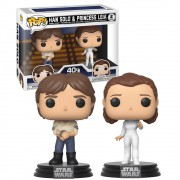 POP FUNKO HAN SOLO E LEIA 2 PACK STAR WARS