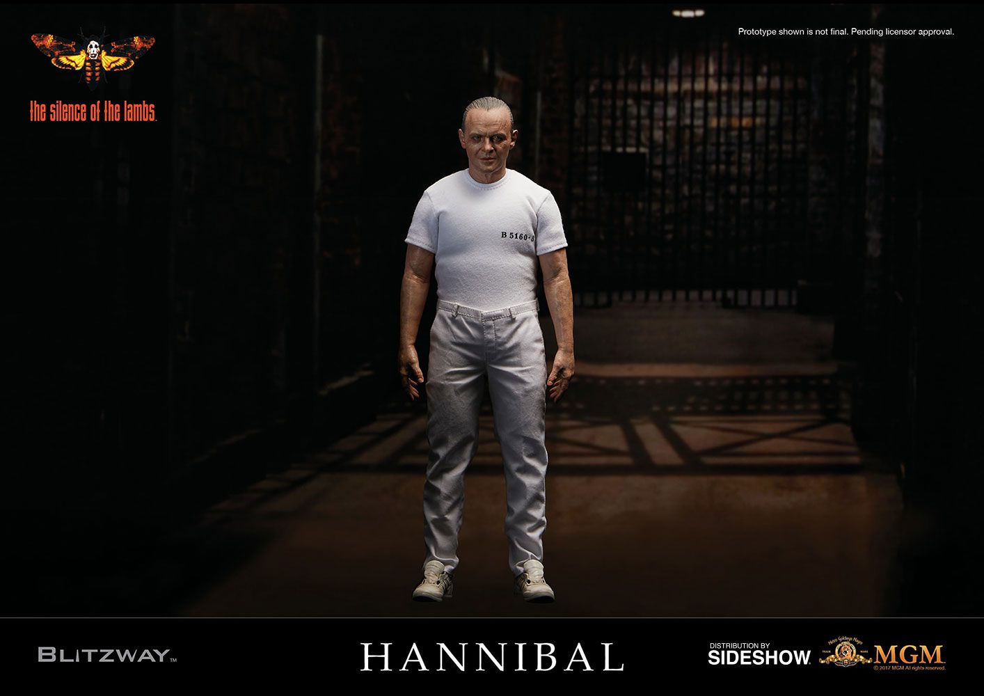 Blitzway Hannibal Lecter White Prison Uniform 1/6 Figure