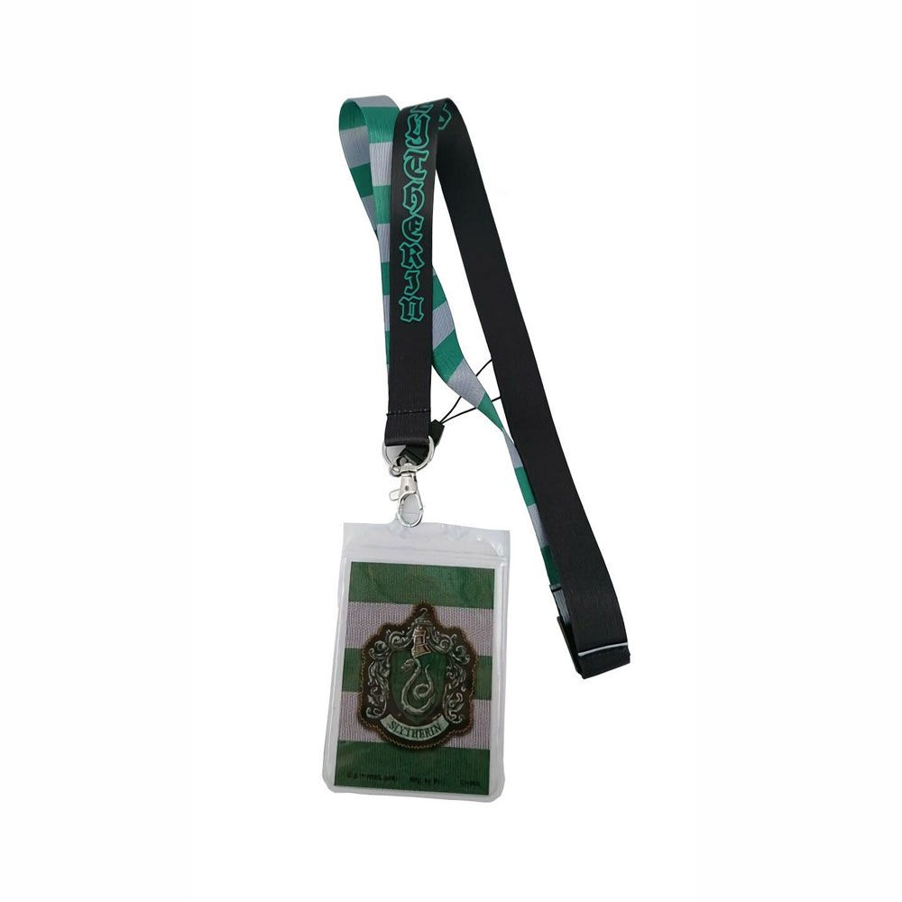 Cordão Lanyard Harry Potter Slytherin Monogram