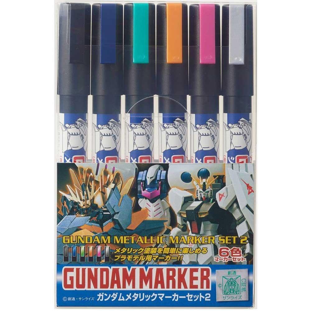 GUNDAM MAKER METALLIC SET 2 CANETA GUNDAM