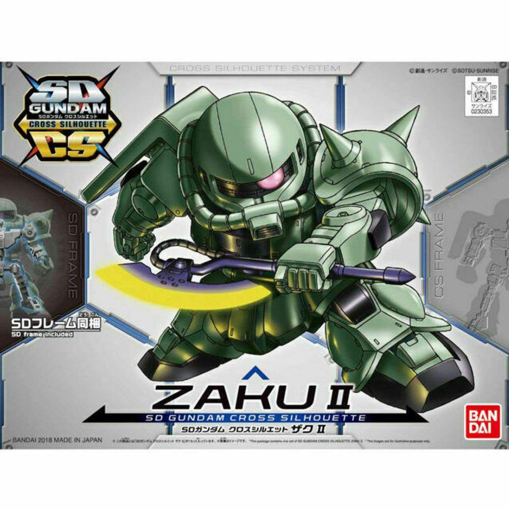 Gundam SD MS-06F Zaku II Bandai Model Kit