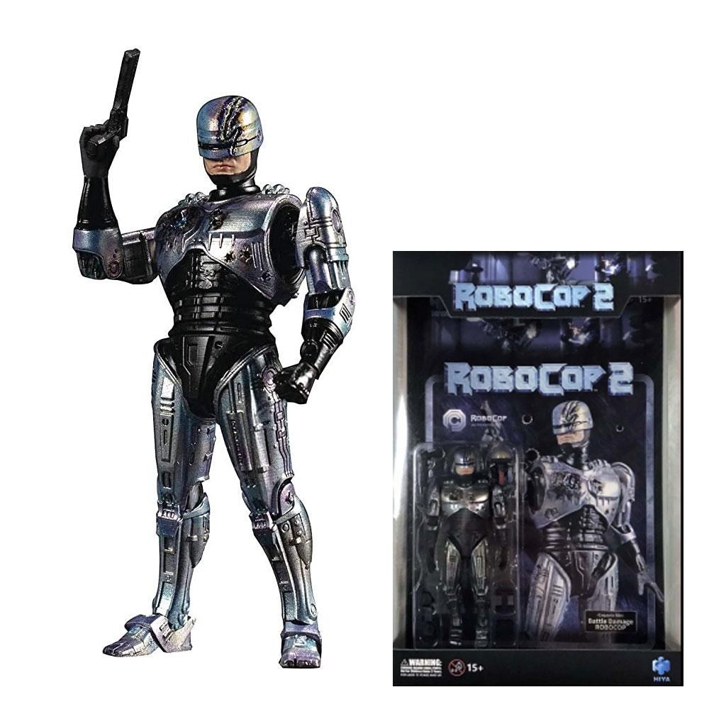 Hiya Robocop Battle Damage Robocop 2 Action Figure
